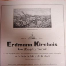 Antigüedades: CATALOGO CONSTRUCCION MAQUINARIA ERDMANN KIRCHEIS 1918. Lote 16540369