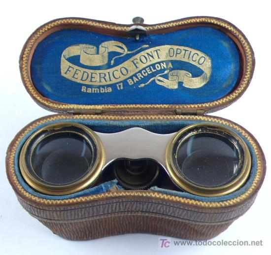 Antigüedades: prismaticos para teatro, 1890s aprox. En funda original. 7 x 11,5 cm. - Foto 5 - 21533984
