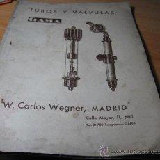 Antigüedades: CATALOGO DE VALVULAS RAYOS X Y APARATOS DE RADIDIAGNOSTICO- GAMA ALEMANES APROX 1930-CORREOS 2.8€. Lote 16588471