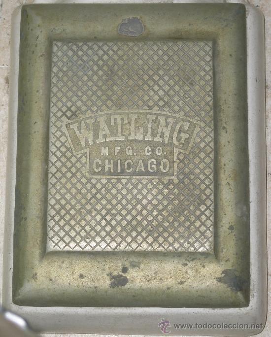 Antigüedades: ANTIGUA BASCULA POR MONEDAS WATLING MANUFACTURING COMPANY CHICAGO - Foto 6 - 27606406
