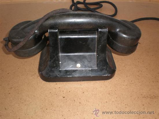 TELEFONO DE HIERRO Y BAQUELITA HOTEL (Antigüedades - Técnicas - Teléfonos Antiguos)