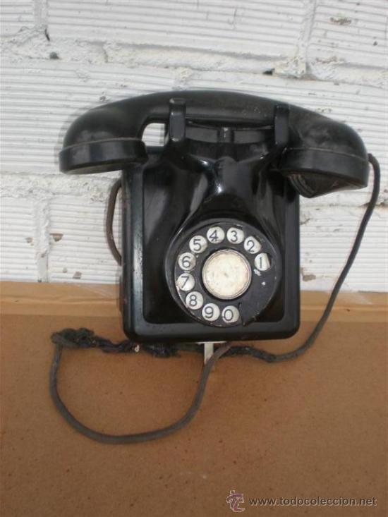 RELEFONO DE PARED HIERRO Y BAQUELITA (Antigüedades - Técnicas - Teléfonos Antiguos)