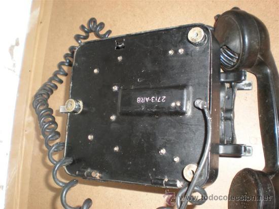 Teléfonos: relefono de pared hierro y baquelita - Foto 3 - 16924198