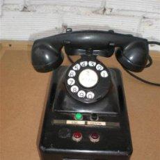 Teléfonos: TELEFONO DE HIERRO Y BAQUELITA DE CENTRALITA. Lote 16924244
