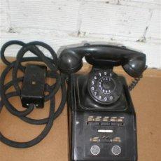 Teléfonos: TELEFONO DE HIERRO Y BAQUELITA DE CENTRALITA. Lote 16924297