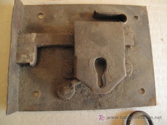 Antigüedades: CERRADURA DE FORJA, CON SU LLAVE. ANTIGUA - Foto 5 - 26877929