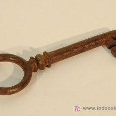 Antigüedades: LLAVE EN HIERRO FORJADO.. Lote 17132280