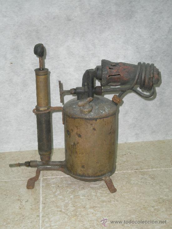 ANTIGUO SOPLETE DE FONTANERO SOLDADOR (Antigüedades - Técnicas - Herramientas Profesionales - Mecánica)