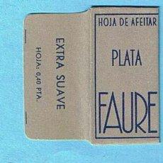 Antigüedades: HOJA DE AFEITAR PLATA FAURE. EXTRA SUAVE, HOJA 0,40 PTA. VOLLMER Y CIA, S.L. ESPAÑOLA.. Lote 194260936
