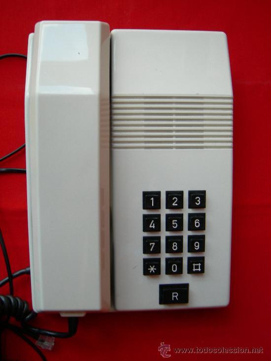 TELÉFONO TEIDE BLANCO (Antigüedades - Técnicas - Teléfonos Antiguos)