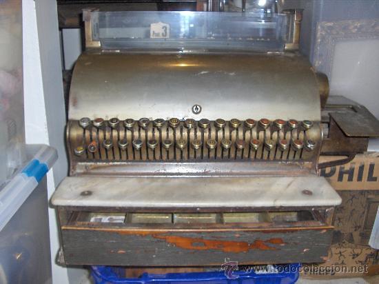 CAJA REGISTRADORA ANTIGUA - GRANDE - NATIONAL 10 PESETAS (Antigüedades - Técnicas - Aparatos de Cálculo - Cajas Registradoras Antiguas)