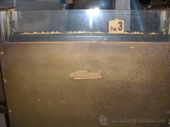 Antigüedades: CAJA REGISTRADORA ANTIGUA - GRANDE - NATIONAL 10 PESETAS - Foto 3 - 176678272