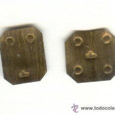 Antigüedades: LOTE DE DOS FINAS PESAS MARCAS DOS PUNTOS Y CUATRO PUNTOS LETRAS F MIRO POCO VISIBLES. Lote 24013419
