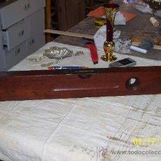 Antigüedades: NIVEL STANLEY EN MADERA. .. Lote 26342326