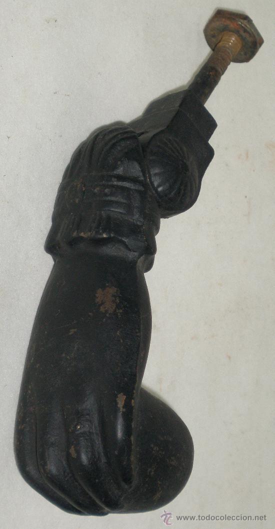 Antigüedades: LLAMADOR MANO - HIERRO - - VER FOTOS - Foto 2 - 27106912