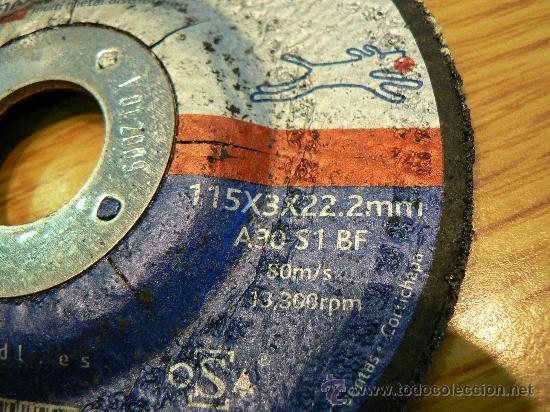 Antigüedades: discos de corte de hierro para radial o mola nuevos a estrenar - Foto 3 - 17658535