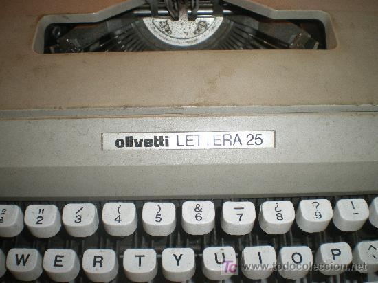 Antigüedades: maquina de escribir olivetti letiera 35 funciona perfectamente - Foto 2 - 23934315