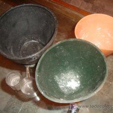 Antigüedades: LOTE DE MESCLADORES GOMA DE PROTESICO DENTAL Y DOS MEDIDORES DE PLASTICO,. Lote 25271355