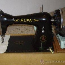 Antigüedades: MAQUINA DE COSER ALFA EN BUEN ESTADO. Lote 25486310