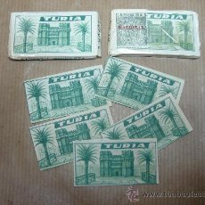 Antigüedades: CAJA HOJA DE AFEITAR - TURIA - ¡¡ CAJA CON 5 UNIDADES ¡¡¡ CUCHILLA. Lote 219497913
