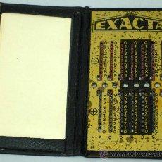 Antigüedades: CALCULADORA EXACTA AÑOS 30 CON PUNTERO INSTRUCCIONES. Lote 113771002