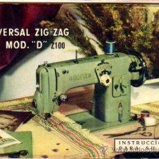 Antigüedades: INSTRUCCIONES PARA SU USO. ALFA . MOD. . Lote 18063636