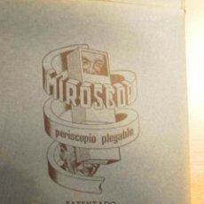 Antigüedades: ANTIGUO PERISCOPIO PLEGABLE MIROSCOP . Lote 21558282