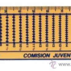 Antigüedades: REGLA 10 CM. CON PUBLICIDAD DE COMISION JUVENTUD FESOFI. REGLAS.. Lote 18748725