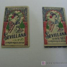 Antigüedades: + SEVILLANA LOTE DE 2 CUCHILLAS DE AFEITAR. Lote 18810623