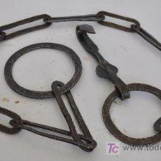 Antigüedades: CADENA DE CHIMENEA DE FORJA.. Lote 26333059