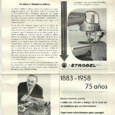 Antigüedades: MAQUINA COSER STROBEL PARA GENERO DE PUNTO WIRKEREL STRICKEREI TECHNIK 1958. Lote 19009931