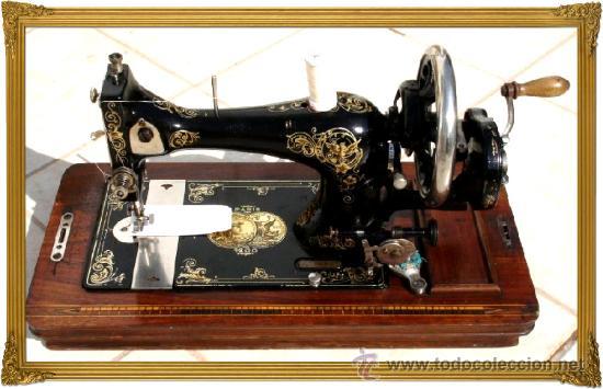 Bellisima y antigua maquina de coser gritzner,w - Vendido