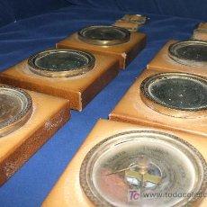 Antigüedades: HIGROMETRO, TERMÓMETRO, Y TEMPOMETRO. PAREJA.. Lote 27015759