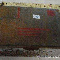 Oggetti Antichi: CAJA METÁLICA, INTERIOR DE MADERA, 11'5 X 8 X 4'5 CM. Lote 19797585