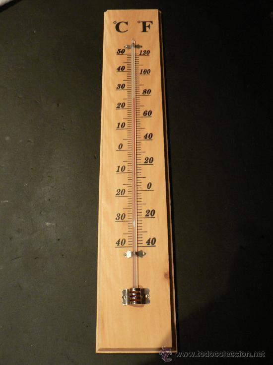 Termometro de mercurio y madera comprar varias antig edades t cnicas y cient ficas en - Termometro de pared ...