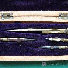 Antigüedades: ANTIGUO ESTUCHE COMPÁS. Lote 20924765
