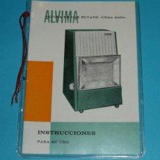 Antigüedades: INSTRUCCIONES ESTUFA DE GAS BUTANO ALVIMA. Lote 26139594