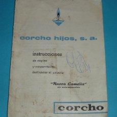 Antigüedades: INSTRUCCIONES COCINA CAMELIA. CORCHO HIJOS, S.A.. Lote 26139596