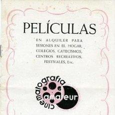 Antigüedades: CATALOGO PELICULAS EN ALQUILER CINEMATOGRAFIA AMATEUR . Lote 20061535