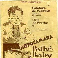 Antigüedades: CATALOGO DE PELICULAS PATHE-BABY EN ESPAÑOL CASA ALEXANDRE. Lote 20061754
