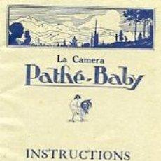 Antigüedades: CATALOGO INSTRUCIONES DE LA CAMARA PAHTE -BABY. Lote 20061776