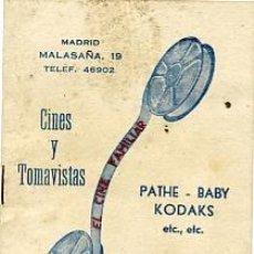 Antigüedades: CATALOGO DE PELICULAS PATHE-BABY CINES Y TOMAVISTAS. Lote 20061829