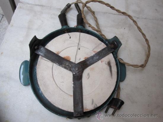 Antigüedades: HORNILLO ELECTRICO DOMESTICO ARMAZON CHAPA ESMALTADA, REFRACTARIO SIN ROTURAS 125V - Foto 2 - 20211698