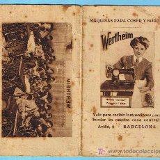 Antigüedades: WERTHEIM. VALE PARA RECIBIR INSTRUCCIONES PARA BORDAR EN NUESTRA CASA CENTRAL, BARCELONA, 1932.. Lote 21315903