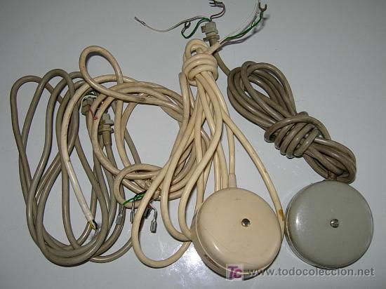 CABLE Y ROSETA DEL ANTIGUO TELÉFONO GÓNDOLA Y MODELOS ANTERIORES. (Antigüedades - Técnicas - Teléfonos Antiguos)