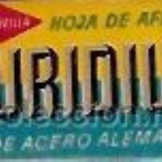 Antigüedades: HOJA DE AFEITAR DURIDIUM DE ACERO ALEMAN FABRICANTE FLEGENSA INCLUYE CUCHILLA. Lote 20500304