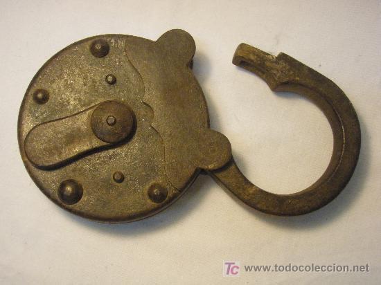 Antigüedades: CANDADO ANTIGUO GRAN TAMAÑO - Foto 4 - 26606158