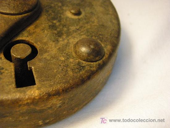 Antigüedades: CANDADO ANTIGUO GRAN TAMAÑO - Foto 2 - 26606158