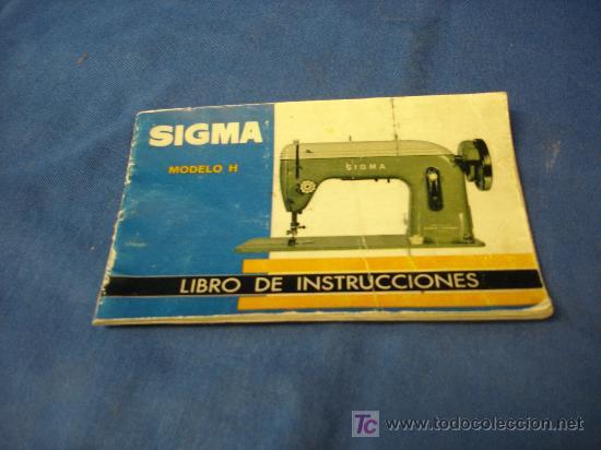 Máquinas de cose sigma. libro de instrucciones - Vendido