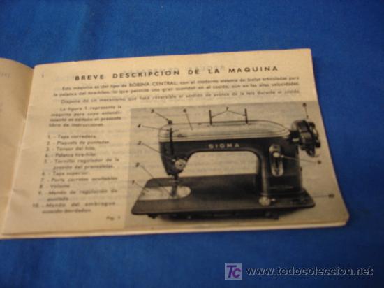 Máquinas De Cose Sigma Libro De Instrucciones Vendido En Subasta 22349876